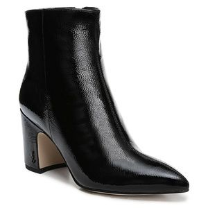 NWT Sam Edelman Hilty Leather Boot, Patent Leather